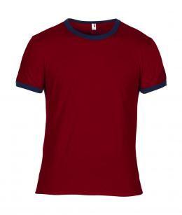indumenti professionali estivi, abiti per lavoro Milano, T-shirt girocollo rossa