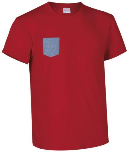 indumenti industria alimentare, abiti promozionali Svizzera, Tshirt con taschino rossa