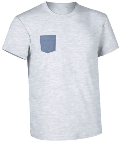 abiti promozionali Piemonte, divise donne pulizie, Tshirt con taschino grigia