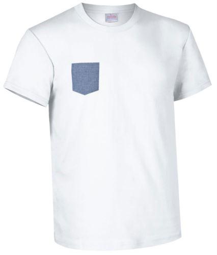 indumenti da lavoro imbianchino abiti promozionali Milano Tshirt con taschino bianca
