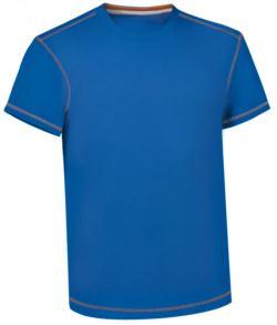 T-Shirt da lavoro girocollo, con cuciture di colore a contrasto, colore azzurro royal