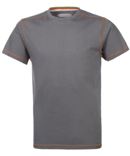 abbigliamento per lavoro personalizzato, tshirt idraulico, Tshirt da lavoro grigia