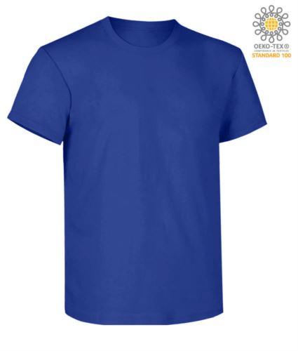 T-Shirt da lavoro maniche corte, vestibilità regular fit, girocollo, certificata OEKO-TEX. Colore blu cobalto