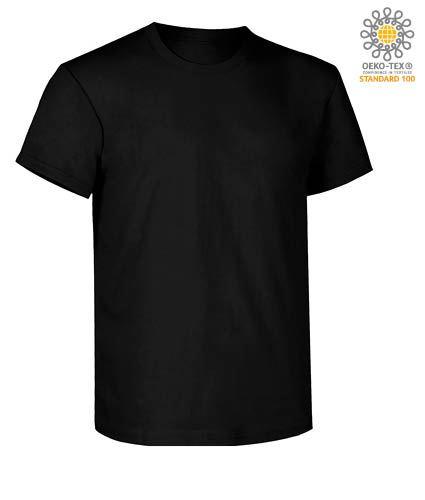 T-Shirt da lavoro maniche corte, vestibilità regular fit, girocollo, certificata OEKO-TEX. Colore urban black