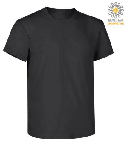 T-Shirt da lavoro maniche corte, vestibilità regular fit, girocollo, certificata OEKO-TEX. Colore nero