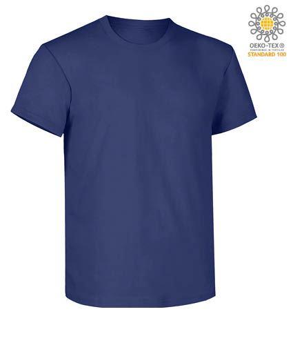 T-Shirt da lavoro maniche corte, vestibilità regular fit, girocollo, certificata OEKO-TEX. Colore blu navy