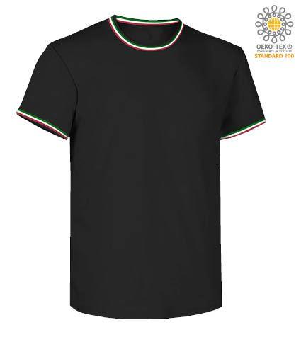vestiti per lavoro officine meccaniche, divise professionali Piemonte, T shirt girocollo nera