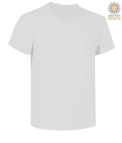 T-shirt scollo a V manica corta