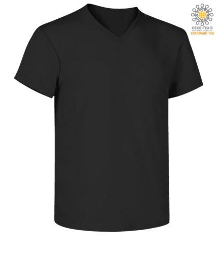 T-shirt a maniche corte scollo a V
