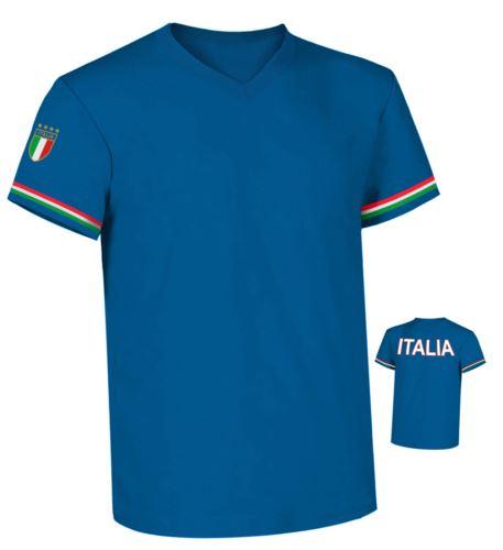 T-shirt collo a V ITALIA