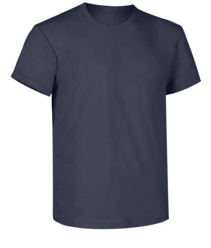 T-shirt da lavoro, collo in costina con elastane, colore blu navy