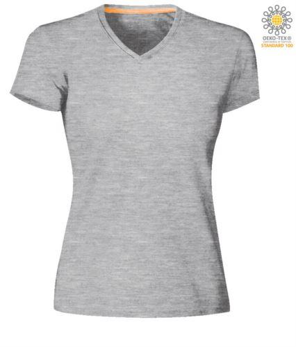 T-shirt donna a maniche corte scollo a V