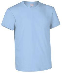 T-shirt girocollo a manica corta colore celeste