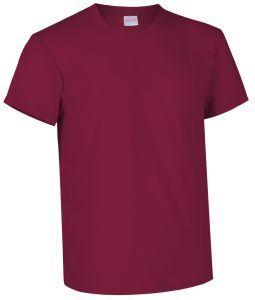 T-shirt girocollo a manica corta colore bordeaux