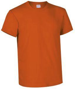 T-shirt girocollo a manica corta colore arancione