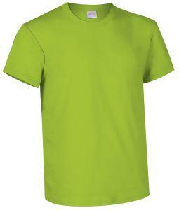 T-shirt girocollo a manica corta colore Verde mela