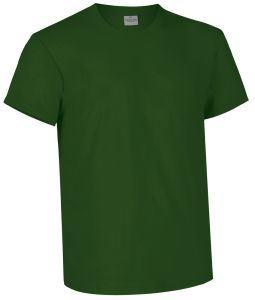 T-shirt girocollo a manica corta colore verde bottiglia