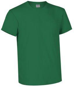 T-shirt girocollo a manica corta colore verde kelly