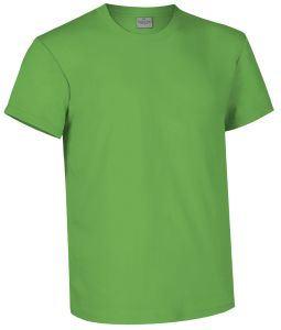 T-shirt girocollo a manica corta colore blu reflex