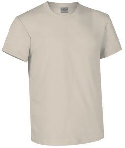 T-shirt girocollo a manica corta colore sabbia