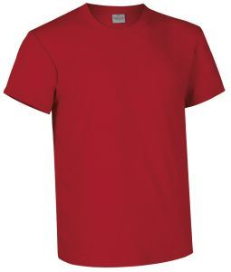 T-shirt girocollo a manica corta colore rosso