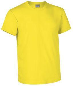 T-shirt girocollo a manica corta colore Giallo
