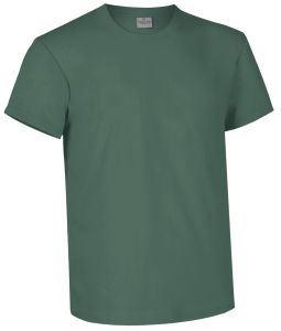 T-shirt girocollo a manica corta colore verde muschio