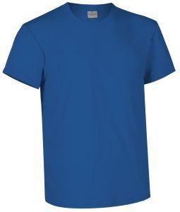 T-shirt girocollo a manica corta colore azzurro royal