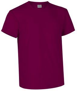 T-shirt girocollo a manica corta colore bordeaux