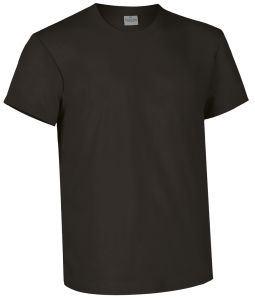 T-shirt girocollo a manica corta colore nero