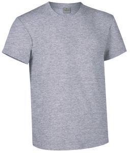 T-shirt girocollo a manica corta colore grigio zinco