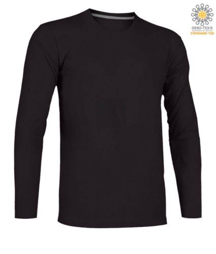 T-shirt girocollo manica lunga