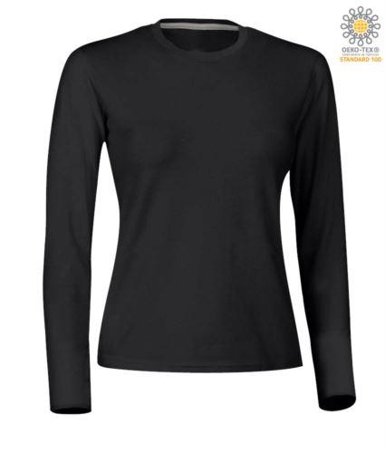 Manica Shirt Lunga Donna T Girocollo c5SLjqA34R