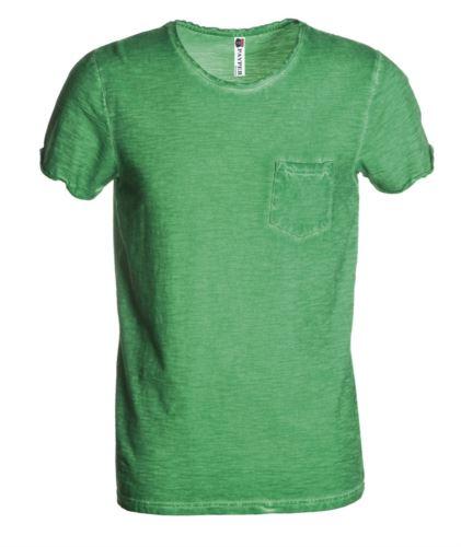T-shirt manica corta con taschino