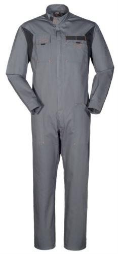 Tuta da lavoro bicolore grigia, tuta da falegname, abbigliamento tecnico da lavoro