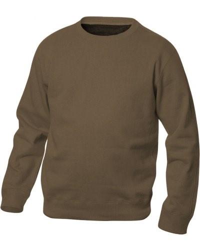Felpa da lavoro girocollo colore marrone in poliestere e cotone ... 7c510404eba